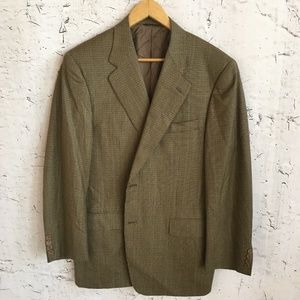 CANALI GREEN BROWN BLAZER 54
